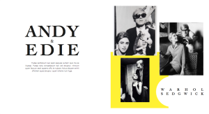 Editorial layout. Andy and Edie 1