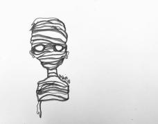 """""""Mummy Inktober"""", pen, marker"""